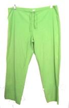 Sz M - Dickies Lime Green Drawstring Scrubs Pants - $16.14