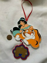 Vintage Aladdin Jasmine & Tiger Disney Wooden Ornament Kurt S. Adler - $15.89