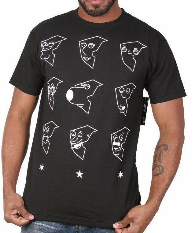 Famoso Stars Y Correas X Familia Tipo Fg Boh Cara Negro Camiseta FM01150128 Med