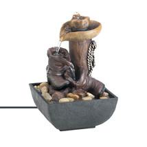 Zen Fountain, Small Polyresin Contemporary Water Fountain Indoor - $33.28
