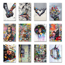 Modern Graffiti Art Posters Paintings Print Canvas Painting Home Wall Ar... - $4.99+