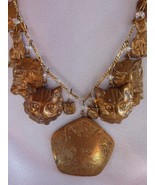 VTG 1970's  Pididdly Links Cat 24 inch necklace-15 charms-pendants-Kings... - $120.49