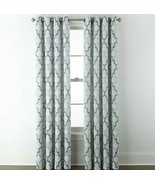 (1) JCPenney Home Casey Jacquard INDIGO BLUE 7313191 Grommet Curtain 50 ... - $43.33