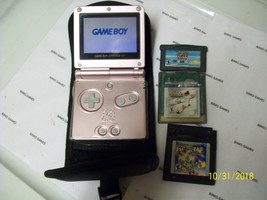 Nintendo GameBoy Advance SP Pearl Pink WITH GAMES AND CASE  - $57.99