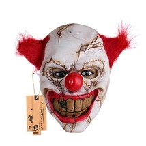 Hyaline&Dora Halloween Latex Clown Mask With Hair for (Red Hair) - $12.54