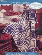 Delft Reflections Afghan TNS Take Along Blocks Crochet Pattern/Instructi... - $2.67
