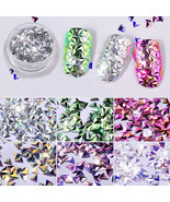 6 Box Female Lady 3D Triangle Nail Decals DIY Sequins Sticker Decoration - $5.25