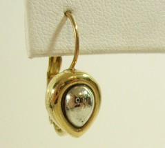 Liz Claiborne Teardrop Dangle Silver and Gold Plate Drop Pierced Earring... - $11.83