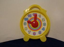 Plastic Teaching Clock Analog Yellow Tell Time - $3.00