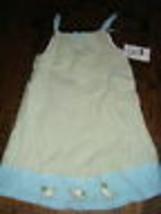 B.T. BT kids gingham sun dress 6 NWT green blue geese girls seersucker - $7.91