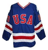 Mark johnson  10 team usa miracle on ice hockey jersey blue   1 thumb200