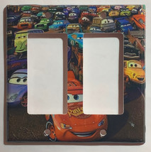 Cars Lightning McQueen Light Switch Power Outlet wall Cover Plate Home Decor image 4
