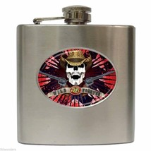 RON KEEL METAL COWBOY Officially Licensed Stainless Steel Hip Flask (6 oz) - $18.95