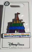 NWT Disney Parks Pride Walt Disney World Rainbow Glitter Castle Pin Gay - $14.80