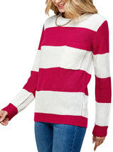 Women's Oversized Long Sleeve Colorful Chunky Knitted Casual Pullover Sweater image 14