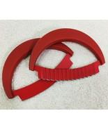 Kuhn Rikon 2pc Crinkle Cutter & Rounded Knives Mezzaluna Red - $19.80