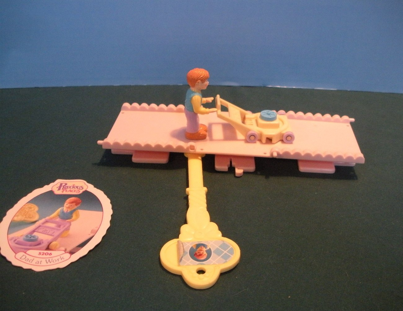 Vintage Fisher Price Precious Places #5206 Dad at Work COMP.with Card /EXC! (A)