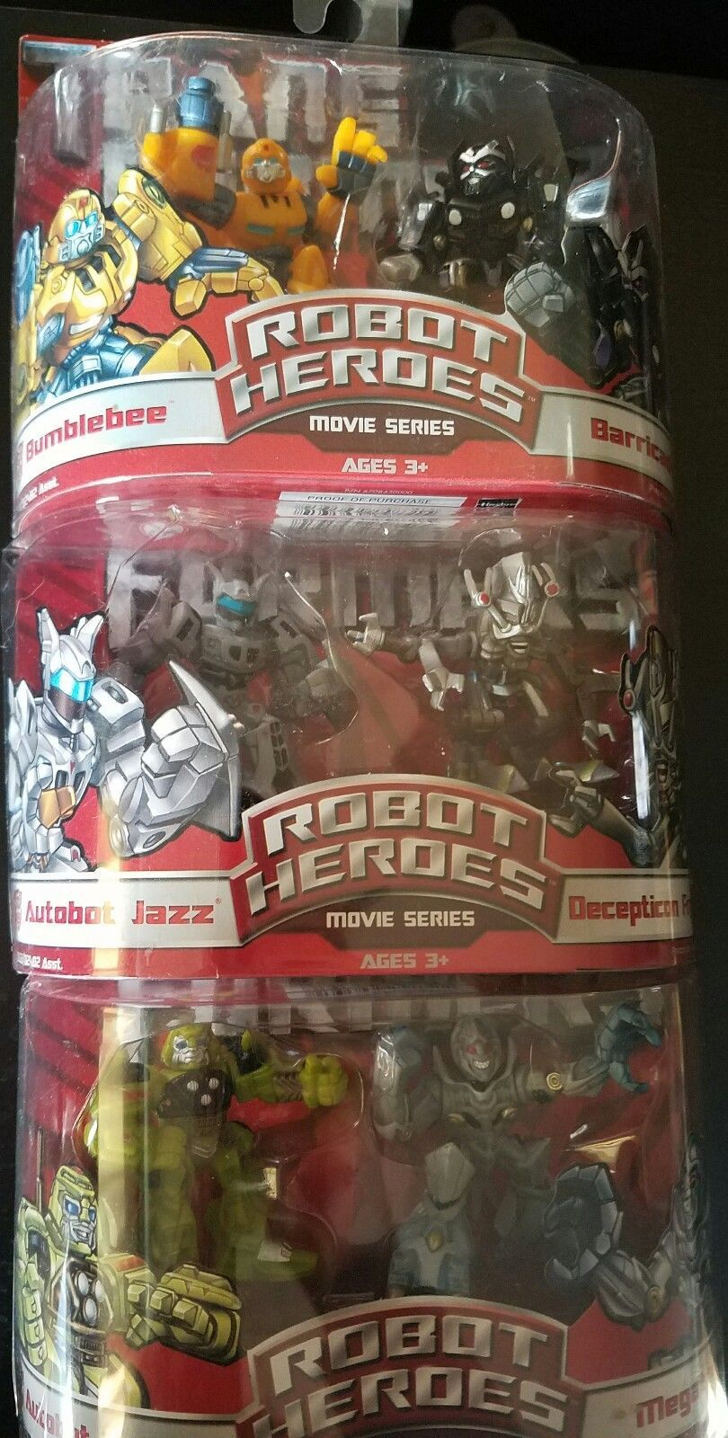 Transformers Figures Lot of 3 Movies Series