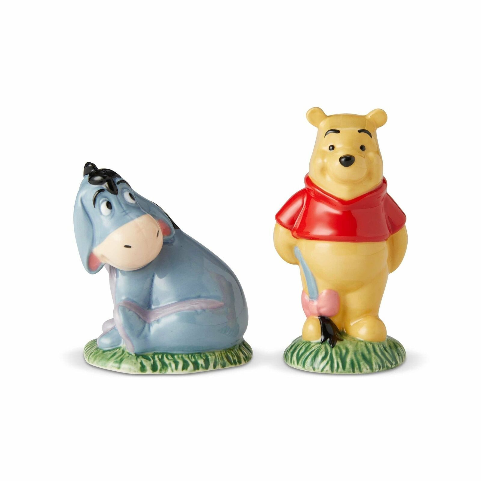 Walt Disney Winnie the Pooh and Eeyore Ceramic Salt & Pepper Shakers Set BOXED