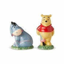 Walt Disney Winnie the Pooh and Eeyore Ceramic Salt & Pepper Shakers Set... - $19.34