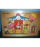 Vtg. Fisher Price Pick Up 'N Peek #514 Merry-Go... - $28.99