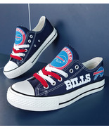 bills shoes women bills sneakers converse style tennis shoe buffalo fans... - $59.99