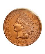 1891 Indian Head Cent - Gem BU / MS / UNC - €87,44 EUR