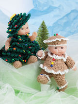 """Cute As Pie Baby Doll Clothes To Crochet For 5"""" Itty Bitty Dolls - - $33.95"""