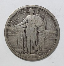 1917D  Type 1 STANDING LIBERTY QUARTER COIN Lot # 818-10