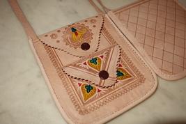 Boho Leather Bag Original Handmade , Sac en ban... - $24.99
