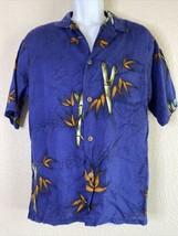 Vtg Off Shore by Daystar Men Size M Blue Floral Shirt Rayon Short Sleeve... - $19.80