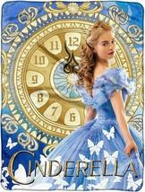 Disney Cinderella 2015 Clock Strikes Super Plush Throw blanket - $18.76