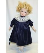 "Vintage 23"" Porcelain Doll – Blond Hair and Blue Eyes Real Eyelashes  - $19.79"