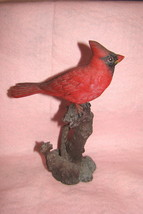 Beautiful Red Cardinal Perched on Tree Branch Collectible Figurine image 2
