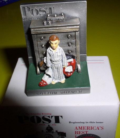 American Norman Rockwell Bottom Drawer Figurine
