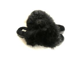 Ugg Fuzzalicious Black Fluff Mocassin Slip On Sandal Us 10 / Eu 41 / Uk 8 - $83.22