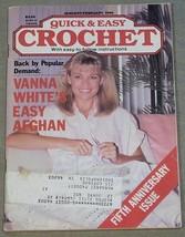 Quick & Easy Crochet January-February 1990 - Fifth Anniversary Issue - $6.44