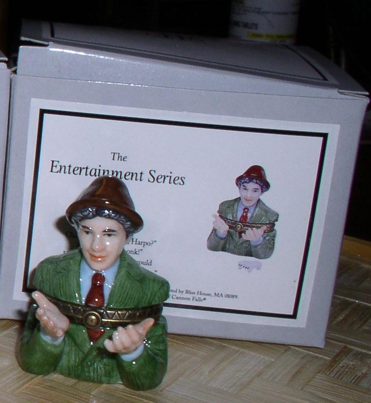Chico  Marx Brothers Porcelain Hinged Box