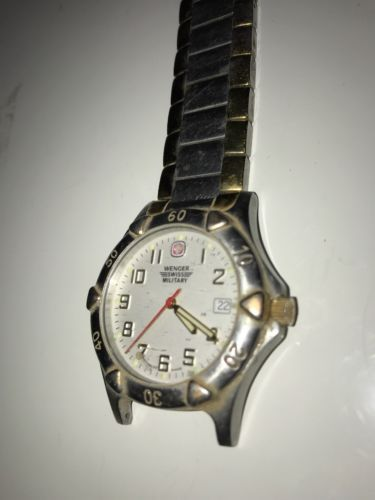 Wenger Swiss Military Watch 79051 Stainless Steel Gold 100M Parts Repair