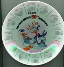 DISNEY Donald Duck 50th Birthday PLATE Ship World - $23.93