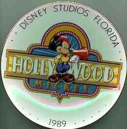 DISNEY Hollywood Mickey 1989 PLATE Ship World Wide