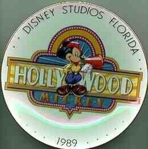 DISNEY Hollywood Mickey 1989 PLATE Ship World Wide - $23.93