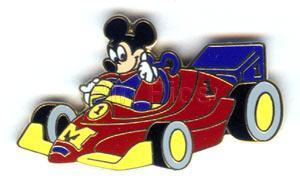 DISNEY Mickey Mouse  Indy 200 Inaugural Race Pin/Pins