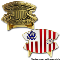 "COAST GUARD HONOR GUARD 2.5"" CHALLENGE COIN - $23.74"