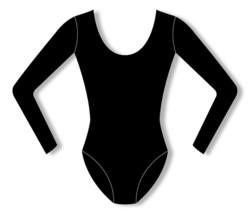 Bloch CL5409 Girl's Size 12 (Large) Black Cotton Long Sleeve Leotard - $14.84