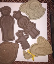 Lot of VINTAGE Cookie Molds , Hartstone  Three Bears ,sun, Spring Duck A... - $27.12
