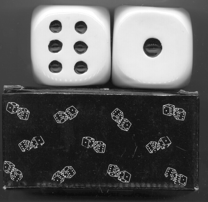 Dice Lucky 7  Porcelain Salt & Pepper