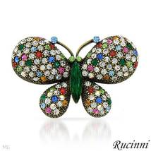 RUCINNI CRYSTAL BUTTERFLY BROOCH - $55.00