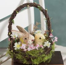 """Raz Imports 9"""" Basket w/Bunny  & Duck - $9.98"""