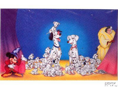 Disney 101 Dalmatians Cruella Mickey Sorcerer Litho